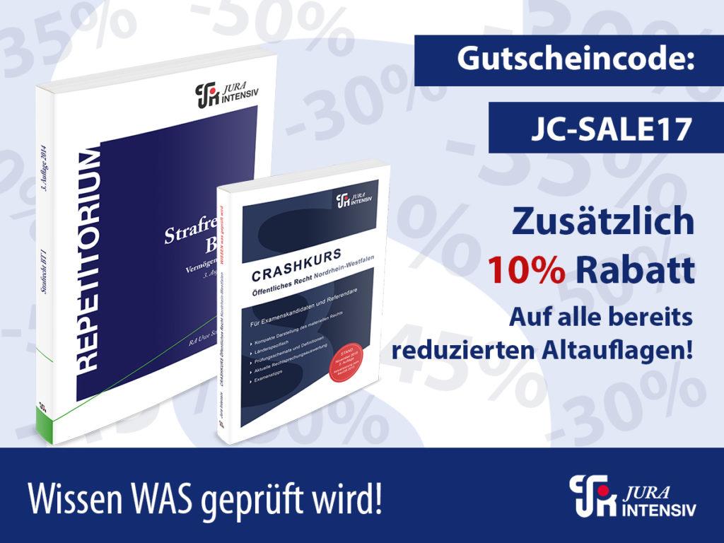 Jura Intensiv Verlag Rabattaktion