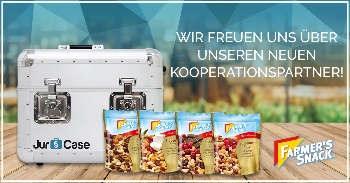Kooperation JurCase & Farmer's Snack