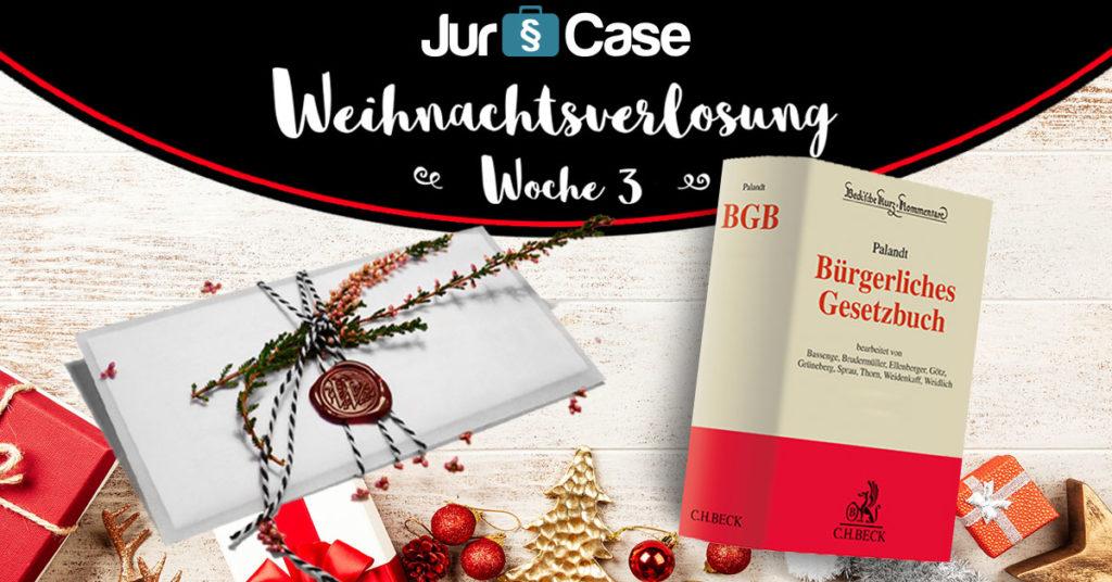 JurCase Weihnachtsverlosung 2018 Woche 3