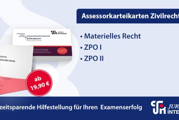 Jura Intensiv - Assessorkarteikarten Zivilrecht - Materielles Recht-ZPO I-ZPO II - JurCase.com