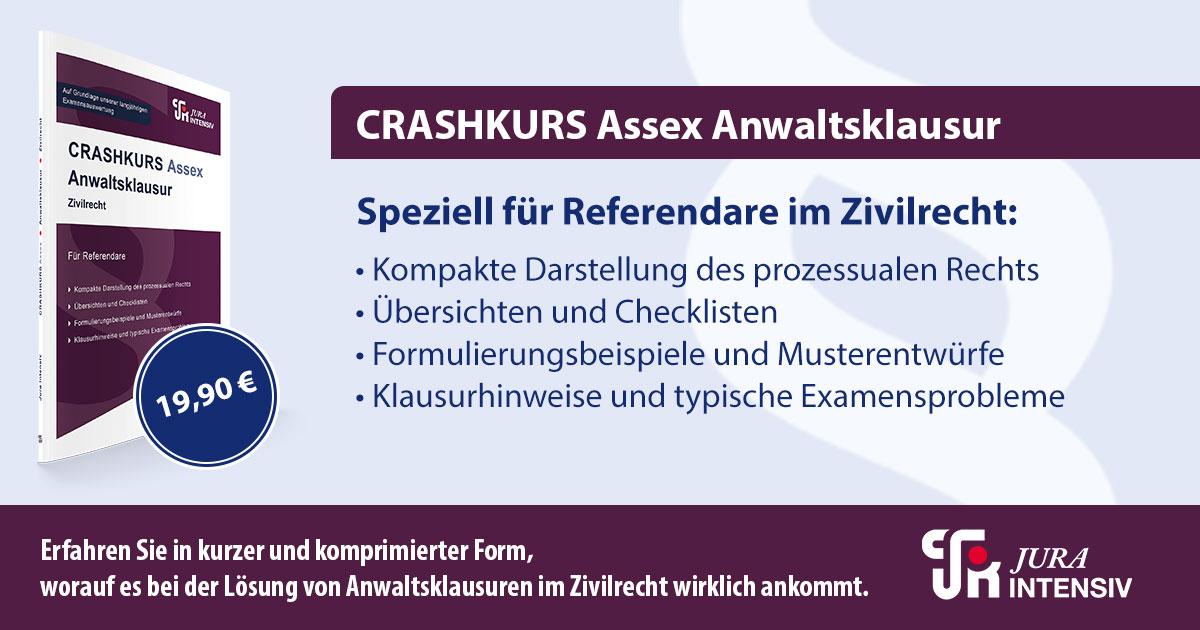 Jura Intensiv - CRASHKURS Assex Anwaltsklausur - JurCase
