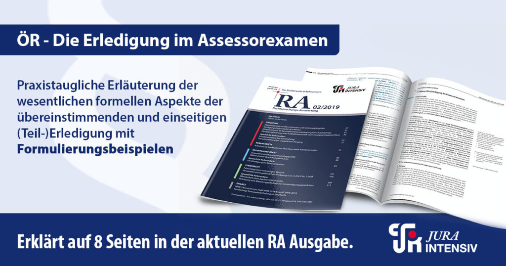 Jura Intensiv_Die Erledigung im Assessorexamen_02_2019