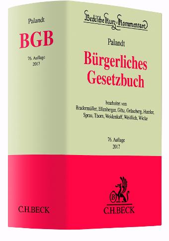 palandt 2017 76.Auflage