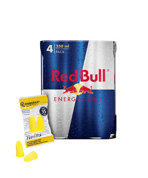 Red Bull und Ohropax