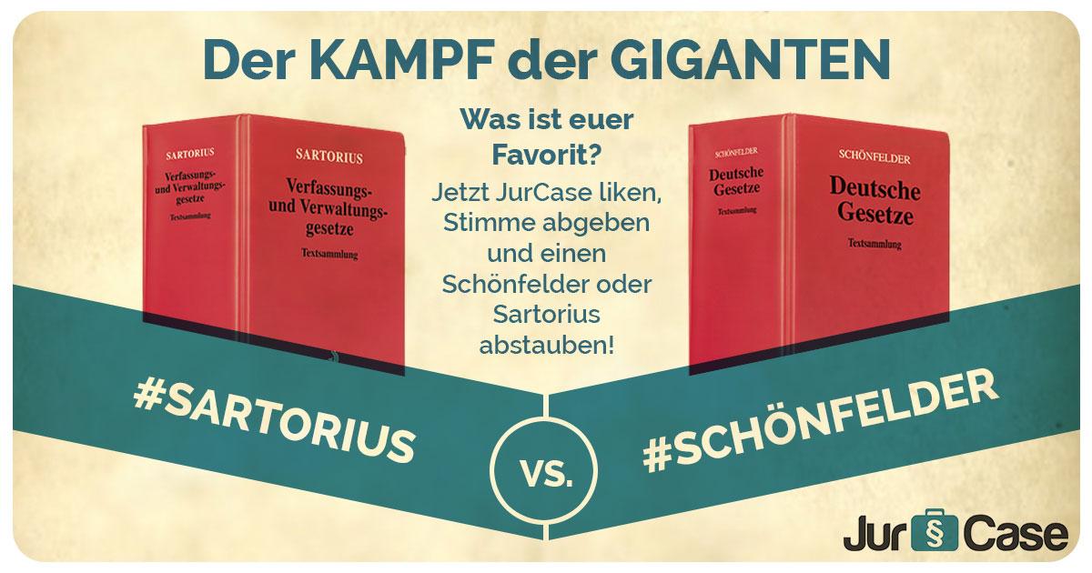 Sartorius VS. Schönfelder: Der Kampf der Giganten! Du entscheidest!