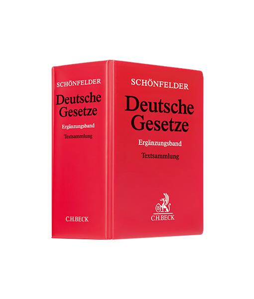 Schönfelder Deutsche Gesetze Ergänzungsband in der 57. Auflage JurCase.com