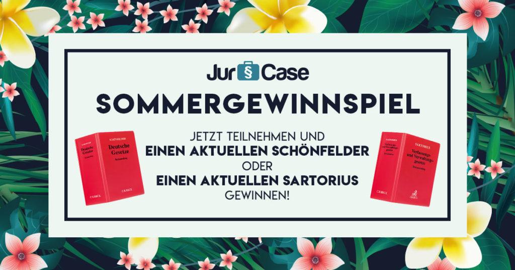 JurCase Sommergewinnspiel 2019